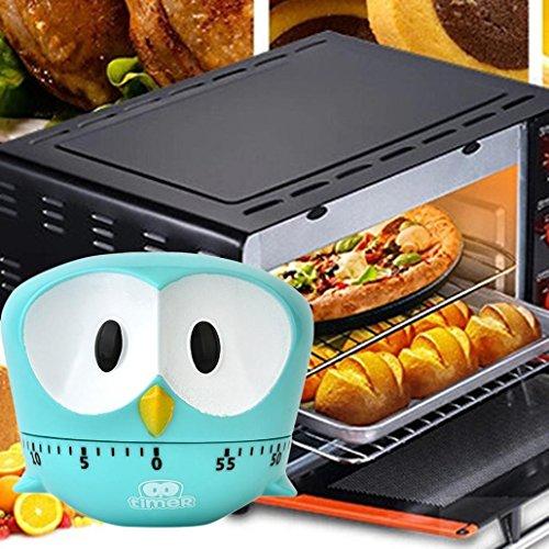TAOtTAO - Temporizador para Cocina, 60 Minutos, Diseño de águila, Azul Celeste, 8 * 6.8cm