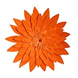 BESTOYARD 40 cm 3D Papier Blume Wand-dekor Künstliche Papier Handwerk für Party Dekoration (Orange)