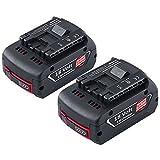 [2 Stück] Dosctt 6000mAh Akku Für Bosch 18V 6.0Ah Lithium-Ionen-Akku Werkzeug Batterie BAT620 BAT621 BAT622 BAT609 BAT618 DDB181-02 Neue Version mit LED-Anzeige