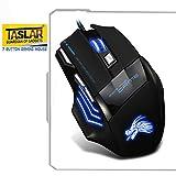 #9: Taslar(TM) 5500 DPI 7 Button LED Optical USB Wired Gaming Mouse 7 LED Colours for Pro Gamer - Black