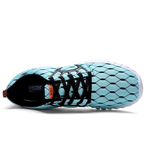 aleader Baskets Chaussures de sport maille filet légère Course à Pied pour Femme Bleu - Bleu clair