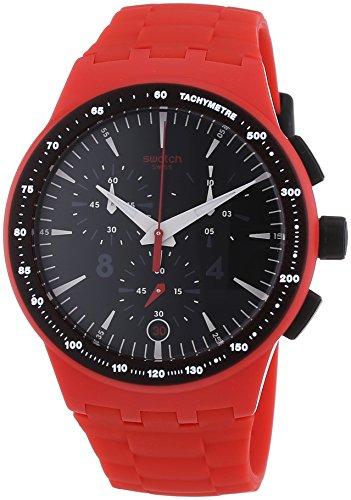 swatch-chrono-fire-core-reloj-de-cuarzo-unisex-correa-de-plastico-color-rojo