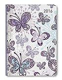 Ladytimer Butterflies 2016 - Taschenplaner/Taschenkalender A6 - Weekly - 192 Seiten