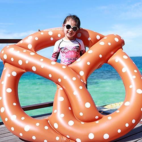 Schwimmende Reihe Des Schwimmrings Des Schokoladenkaffee-Bagels Konkave Form Des Sich Hin- Und Herbewegenden Betts