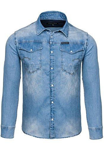 BOLF - Camicia casual - Maniche lunghe - Jeans -