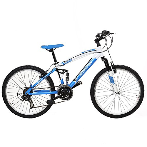 MTB BIKEVO 24 FULL 21 V BIA/AZUL BIKE EVOLUTION