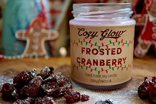 Frosted Cranberry Soy Candle by Cozy Glow 30 ore/192,8 gram barattolo