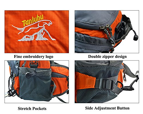 West Biking verstaubarer Sport Cross-Body-Tasche Wasserdichte Reise Camping Multifunktions-Rucksack für herren & Frauen Schulter/Brust Pack Orange