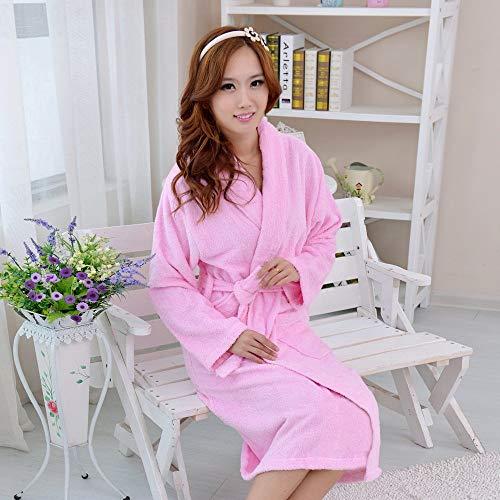Lässige Nachtwäsche Baumwollbademäntel, Herren und Damen, warmes Handtuch, Bademantel, Bademantel (Farbe: Pink, Größe: XL) Sexy Dessous (Farbe : Pink, Größe : X-Large)