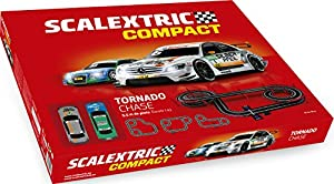 Scalextric-C10256S500 Circuito Pistas Tornado Chase, Color Rojo (Scale Competition Xtreme C10256S500