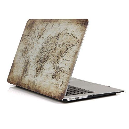 Ein Micron Macbook Pro 13-Zoll-Hülle, neue Art Soft-Touch-Hardcover-Ultra Slim-Schutzhülle für das Macbook Pro 13 '' (A1502 / A1425), Weltkarte 1 (13-zoll-fall Pro Macbook 2010)