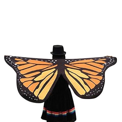 Overdose 145 * 65CM Frauen Weiche Gewebe Schmetterlings Flügel Schal feenhafte Damen Nymphe Pixie Kostüm Zusatz (145 * 65CM, (Kostüm D'indien)