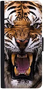 Snoogg Angey Tigerdesigner Protective Flip Case Cover For Samsung Galaxy S3