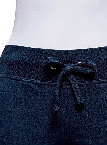 oodji Ultra Donna Pantaloni Sportivi in Maglia Blu (7900N)
