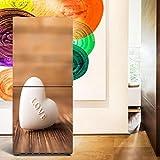 HHYS DIY Kühlschrank-Aufkleber Wasserdicht Selbstklebend Weiß Schokolade Liebe Charakter Muster Wandgemälde,60X150cm(23.6''X59'')
