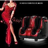 XHH GWJ- Shiatsu Kneten, Rolling & Heating Fuß & Wadenmassagegerät Personal Health Studio Leg Beautician,Red