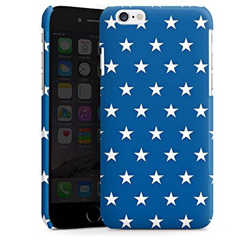 Apple iPhone 5s Housse Étui Protection Coque Étoiles Marine Bleu Cas Premium brillant