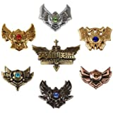 NuoYa005 New Fashion 7pcs LOL League of Legends Badges Collection In Stylish Box