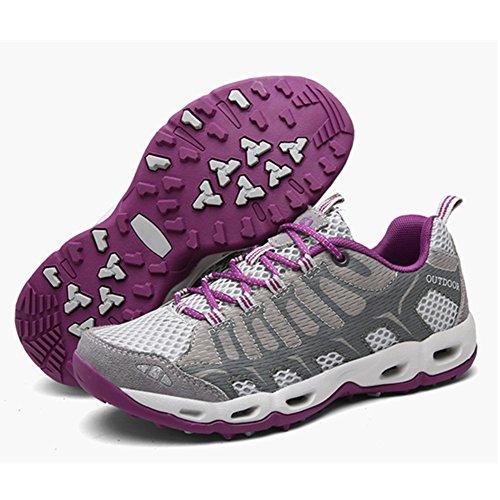 SGoodshoes Unisex-Erwachsene Schnell Trocknend Schuh Laufschuhe Herren Damen Bergschuhe Mesh Low-Top Wasser-Schuhe Trekking- und Wanderschuhe Outdoor Schuhe Grau1
