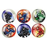 Justice League Bouncy Ball Party Bag Fillers, Pack of 6