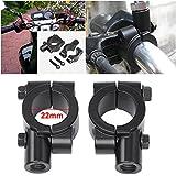 Smallwise Trading UNIVERSAL PAIR OF 10MM MOTORCYCLE BIKE HANDLEBAR MIRROR CLAMP MOUNT 22MM BRACKET