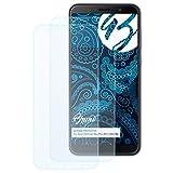 Bruni Schutzfolie kompatibel mit Asus ZenFone Max Pro (M1) ZB602KL Folie, glasklare Bildschirmschutzfolie (2X)