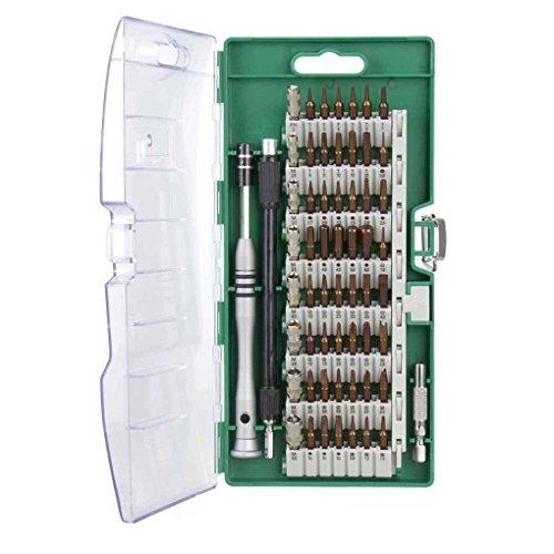 Elenxs 60 en 1 destornillador magnético Conjunto electrónico de precisión Torx Juego de tornillos controlador multifunción Montar la tableta del teléfono Herramientas de reparación de PC