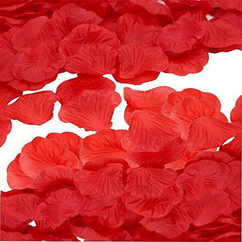 (vientiane 1000 Stück rot Rosenblüten, Rosenblätter, Blumenblätter aus Seide, Seidenblumen,Kunstblumen für Hochzeit Feier Deko)
