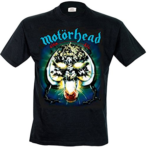 Motorhead Overkill - Camiseta Hombre, color negro, talla Large