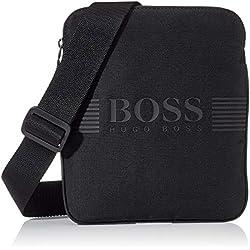BOSS Pixel_s Zip Env, Sacs portés épaule homme, Noir (Schwarz), 1x23.5x19.5 cm (B x H T)