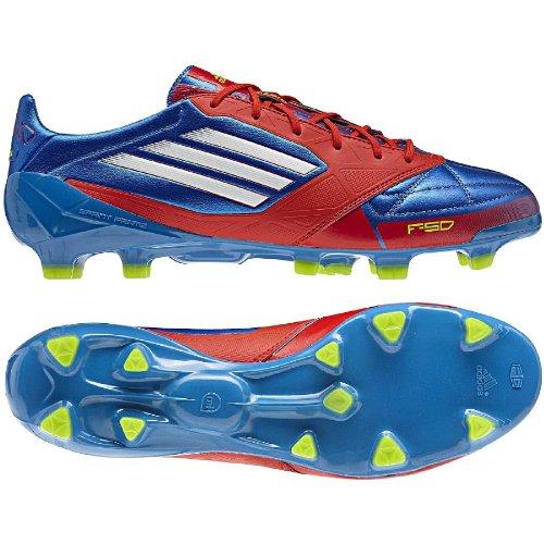 adidas G45575 F50 adizero TRX FG Leather blue, Gr. 39 1/3 UK 6 (Adidas Adizero Fußball)