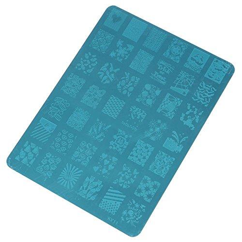 huntgold-nail-art-fleur-design-modles-stencil-estampage-image-manucure-plaque-dimpression-xy11