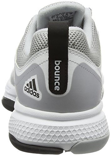 adidas Herren Barricade Classic Bounce Tennisschuhe, Schwarz Weiß / Schwarz / Grau (Ftwbla / Negbas / Onicla)