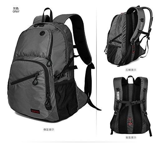 Dlflyb Nylon Rucksack Outdoor Travel Wasserdichte Rucksack Professional Mountaineering Bag gray