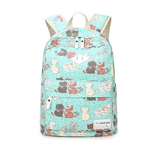 Kinder Netter Katzen-Rucksack-weiblicher beiläufiger Segeltuch-Druck-Rucksack