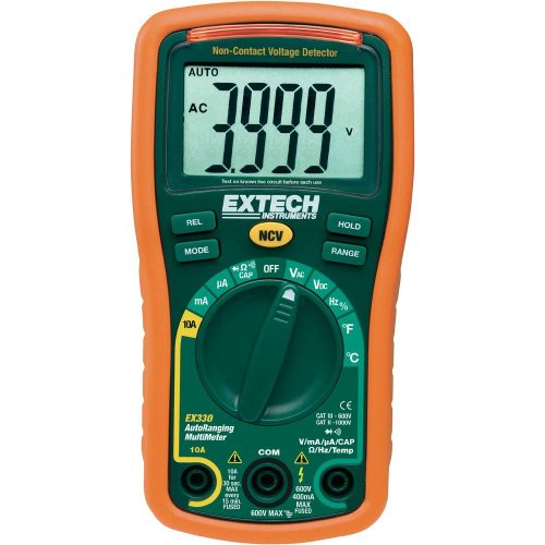 Extech Multimeter (Extech Mini-Multimeter mit 12 Funktionen und Berührungsloser Spannungsprüfer, 1 Stück, EX330)