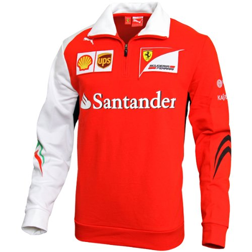 PUMA Scuderia Ferrari SF Team Half Zip Fleece Sweatshirt 761464-01
