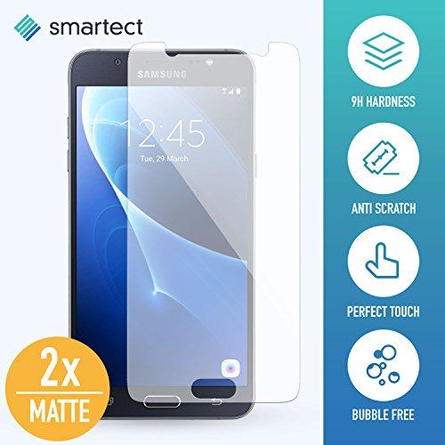 [2x MAT] Protection d'Écran en Verre Trempé pour Samsung Galaxy J5 2016 de smartect® | Film Protecteur Ultra-Fin de 0,3mm | Vitre Robuste avec 9H de Dureté et Revêtement Anti-Traces de Doigts