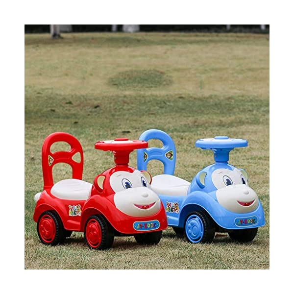 Twist car Swing car Children With Music Baby Scooter Walker Four-wheeler Yo Car 1-3 Years Old Baby Toy Car FANJIANI (color : Red) Twist car ▶Tip: The delivery time of the product is 8-15 days, If you have any questions, please feel free to contact us ▶Environmental PP material, non-toxic, no odor, corrosion resistance, high temperature resistance, anti-drop, shockproof, baby play more assured ▶ Let the baby stimulate the left and right brains by grasping and promote the development of the cerebellum, By constantly adjusting the steering wheel, you can exercise your baby's sense of direction and flexibility, and effectively develop your baby's potential 5