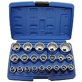 ALKAN Steckschlüsseleinsätze (12-kant 1/2'-Antrieb)/Schraubenschlüssel-Einsatz, 8-36 mm, 21-teilig