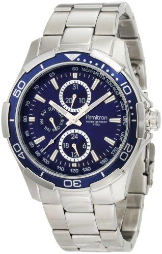 Armitron 20/4677BLSV - Reloj de Pulsera Hombre, Acero Inoxidable, Color Plata