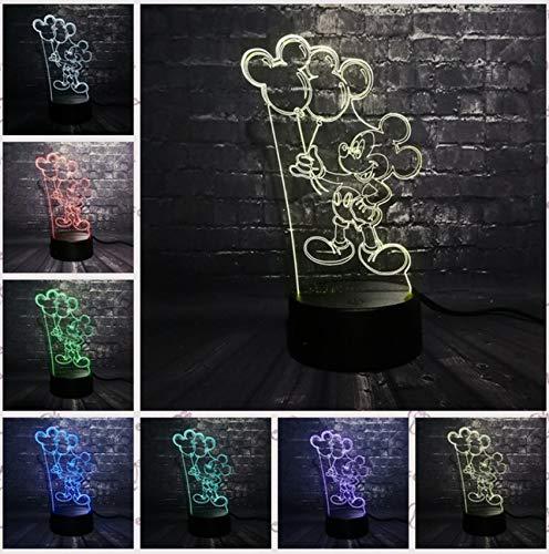 Mickey Minnie Mäuse Maus Ballon 3D LED Nachtlicht USB Weihnachtsgeschenk Schreibtisch Dekorative Tisch Stimmung Baby Kind Kinder Spielzeug Geschenke