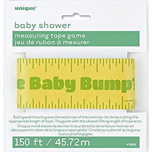 Measuring Tape Baby Shower Game