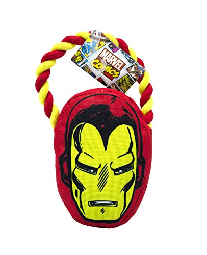 Marvel Comics Iron Man Rope Pull Toy for Dogs | Super Hero Toys for All  Dogs and Puppies