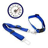 Lantelme 6524 Tierbedarf Set Halsband - Hunde Gurt Adapter und Autothermometer blau - Analog - Tier Auto Zubehör Set
