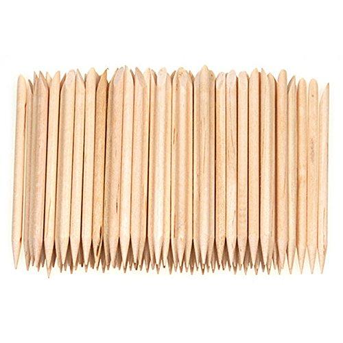Nail Art 100x Holzstäbchen orange wood sticks Orangenholzstäbchen remover Nagelhaut
