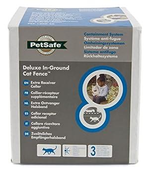 PetSafe - Collier Anti-Fugue pour Chat Supplémentaire pour Clôture Anti-Fugue avec Fil pour Chat 4 niveaux de Stimulation - Collier pour Chat Léger et Ajustable