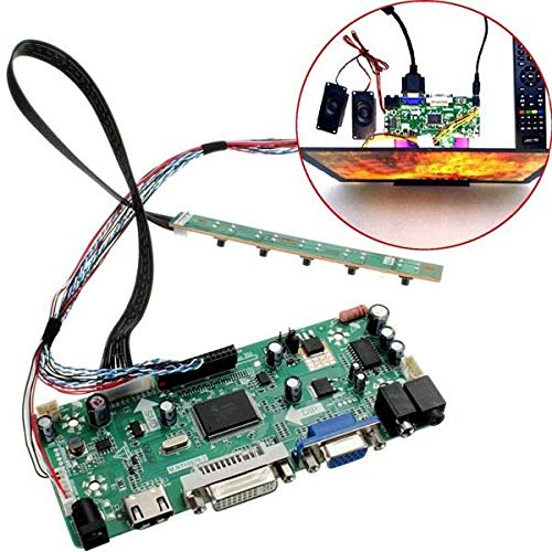 WUX698 LCD Controller Board 40 p 8-bit hd dvi vga Audio pc modul kit for b156xw02 15,6 Zoll Display -