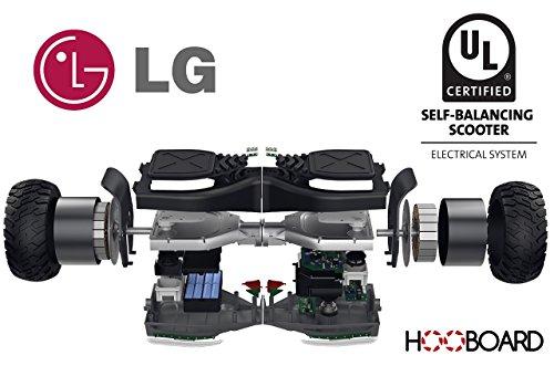 Hooboard - Erste Intelligente Gelände Selbstbalance Roller Board, Hoverboard, UL Zertifiziert, LG Batterie, 800 WATT, Wasserdicht, Staubdicht, TRAGETASCHE INKLUSIVE, ECHTE HOOBOARD NUR VON BENEOSHOP - 2