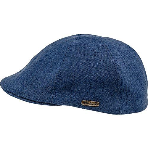 Sterkowski été super légère 100 % lin 6 panneaux duckbill béret-casquette plate, Bleu, XXL
